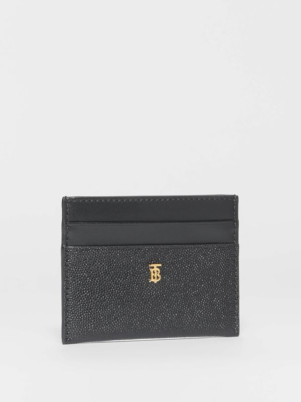 Monogram Motif Leather Card Case in Black - Women | Burberry United Kingdom - cell image 3