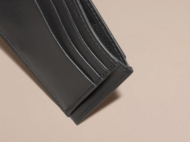 Charcoal London Leather Card Case - cell image 4