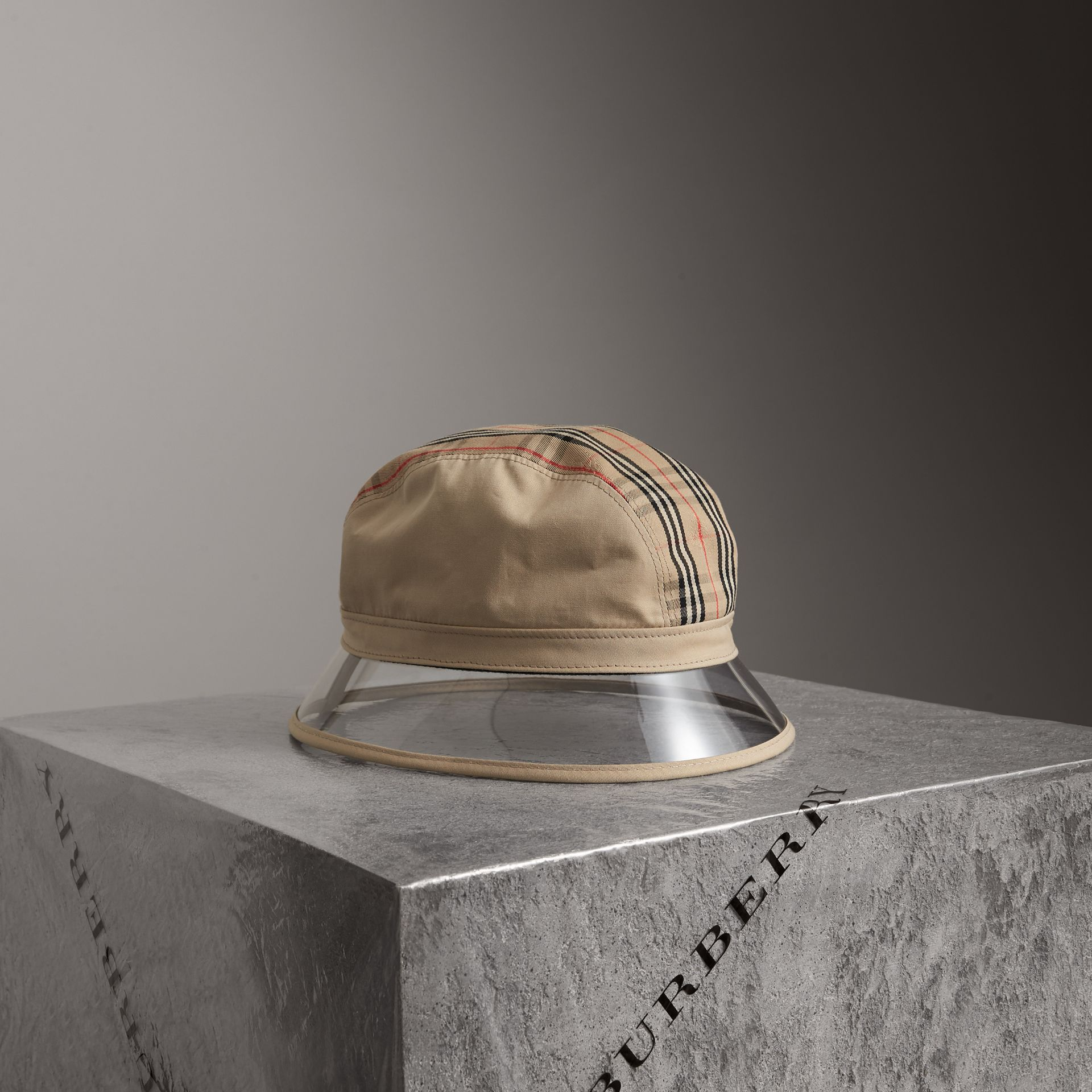1983 Check Bucket Hat in Dark Sand | Burberry - gallery image 0