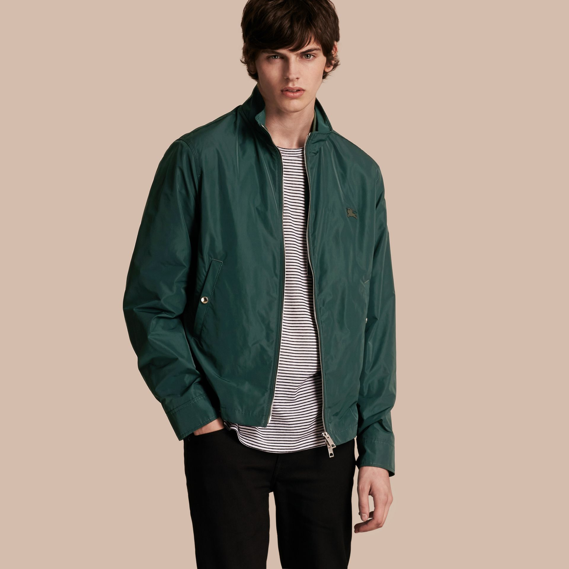 Lightweight Technical Jacket in Racing Green - Men | Burberry - gallery image 2