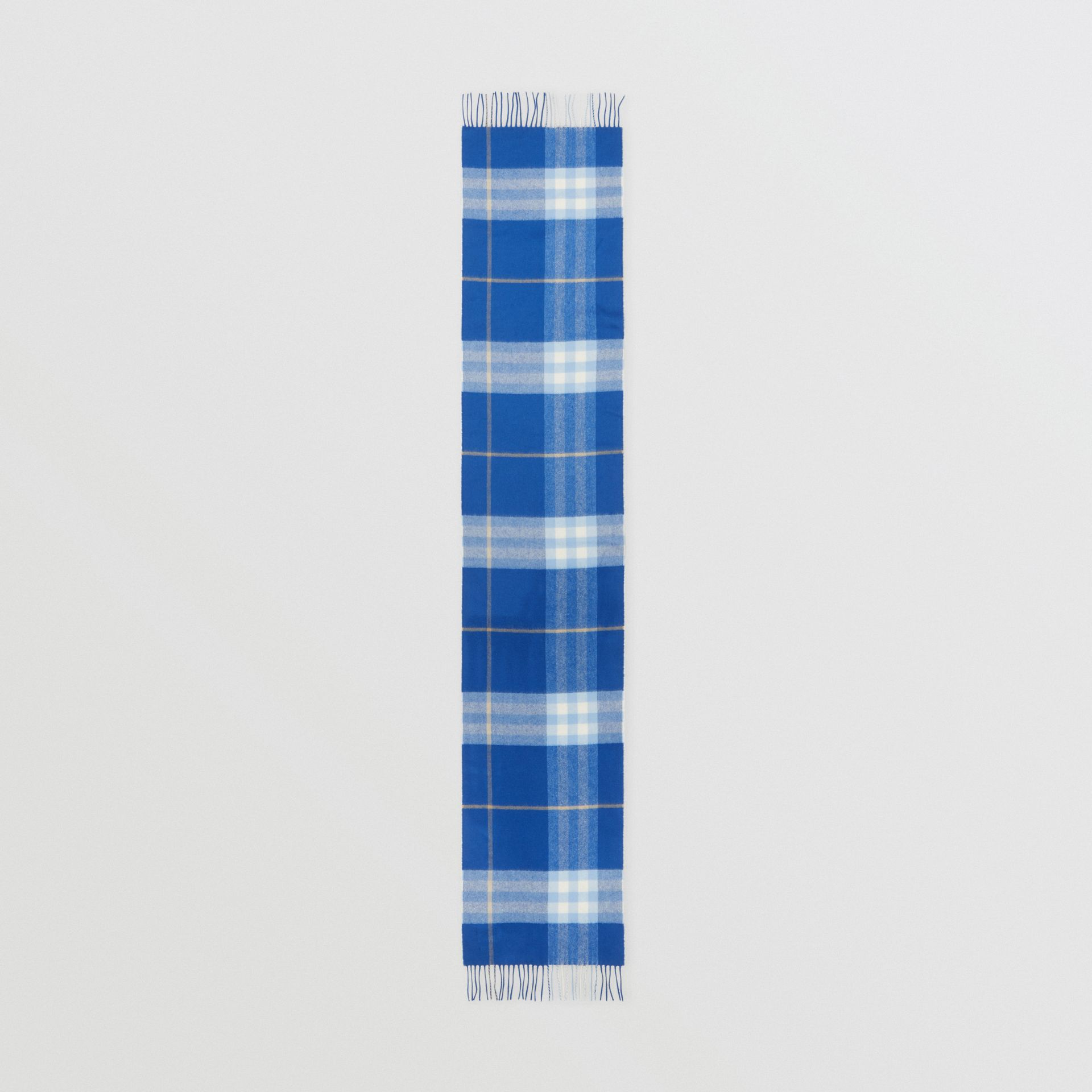 The Classic Check Cashmere Scarf in Inky Blue/bluebell | Burberry United Kingdom - gallery image 4
