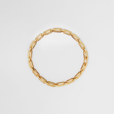 Resin And Gold Plated Chain Link Necklace by Burberry