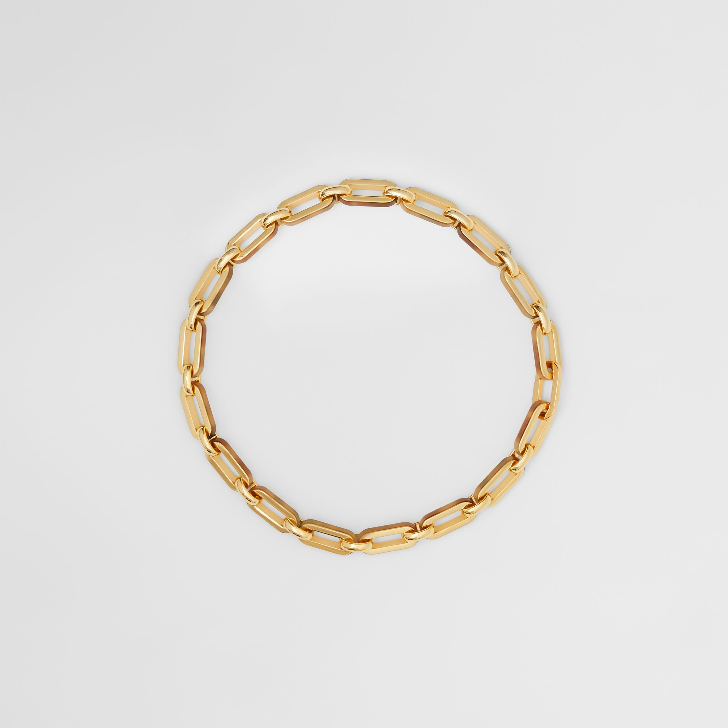 Resin and Gold-plated Chain-link Necklace in Light Gold/horn - Women | Burberry - 1
