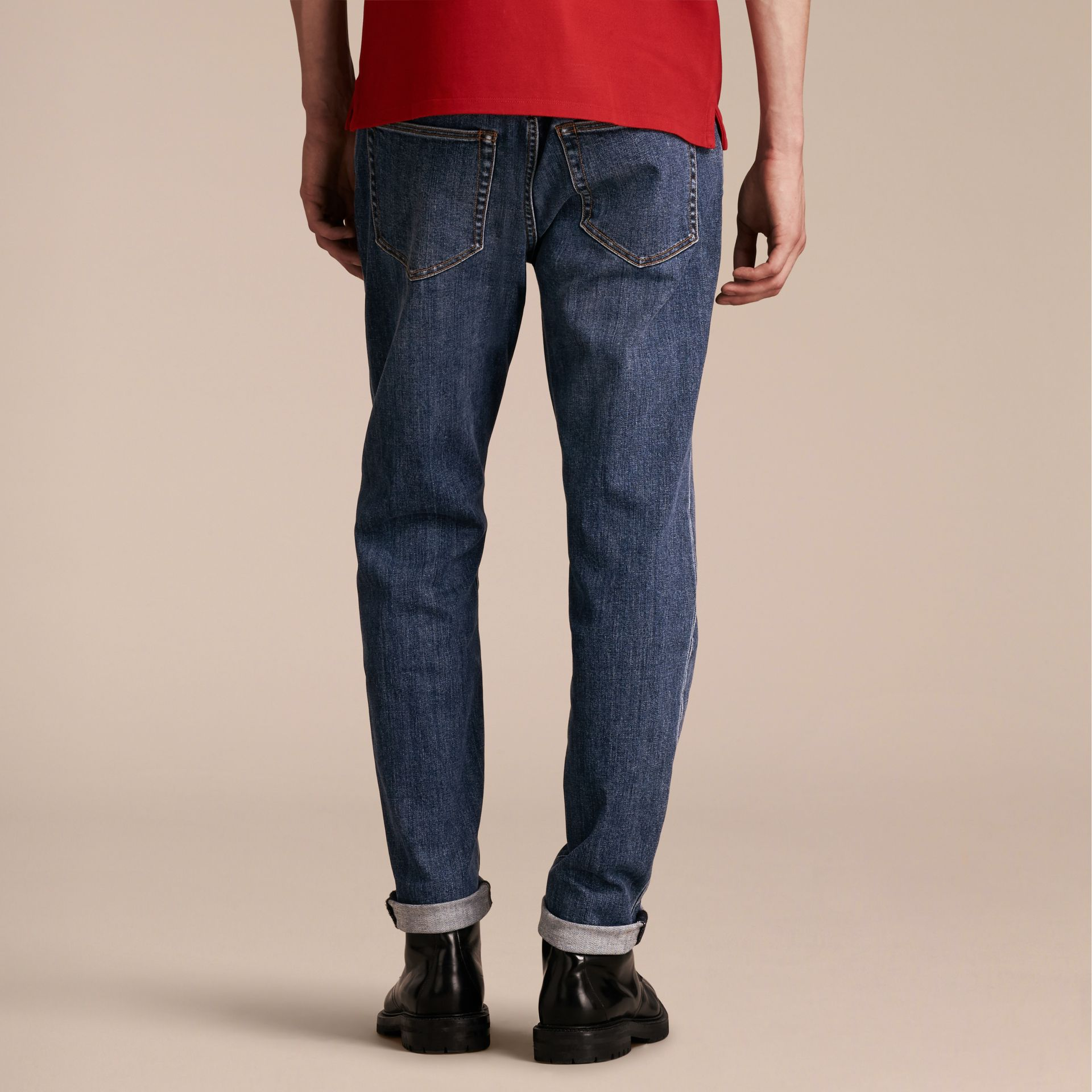 Relaxed Fit Japanese Stretch Denim Jeans - Men | Burberry - gallery image 3