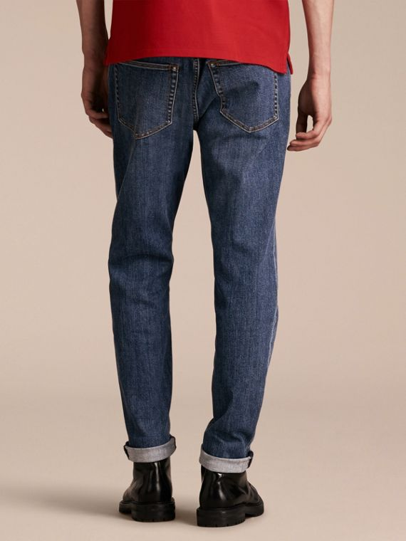 Relaxed Fit Japanese Stretch Denim Jeans - Men | Burberry - cell image 2