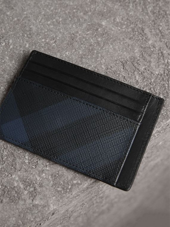 London Check Card Case in Navy/black - Men | Burberry United Kingdom - cell image 2