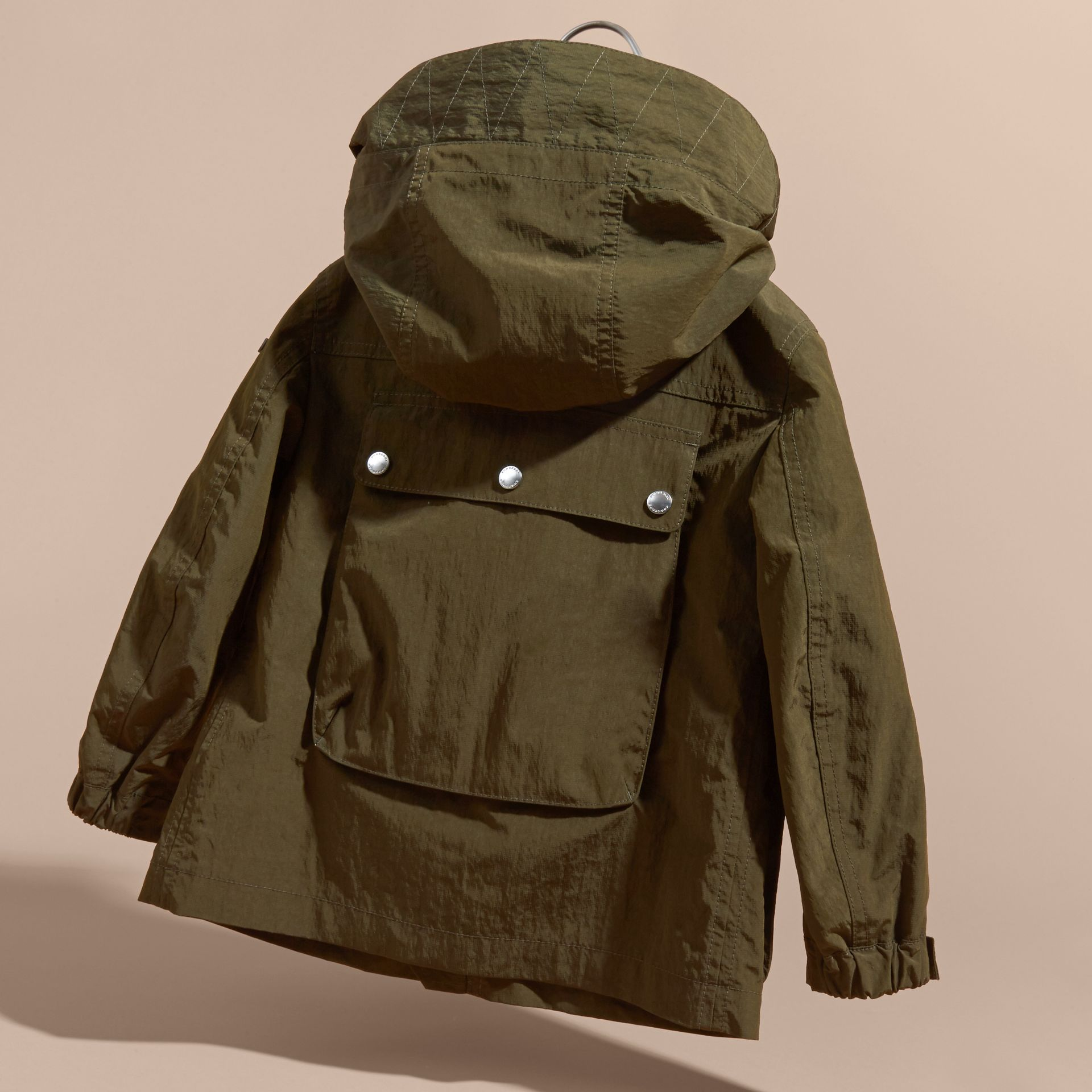 Hooded Field Jacket with Oversize Pocket Detail - gallery image 4