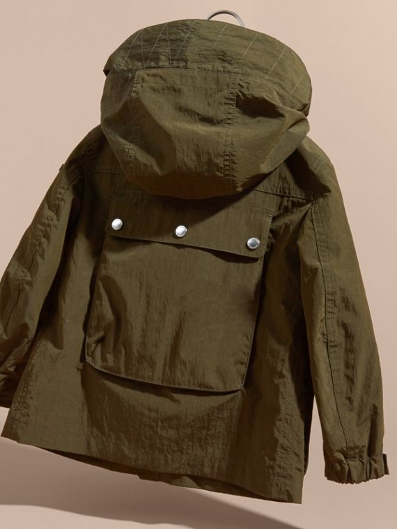 Hooded Field Jacket with Oversize Pocket Detail - cell image 3