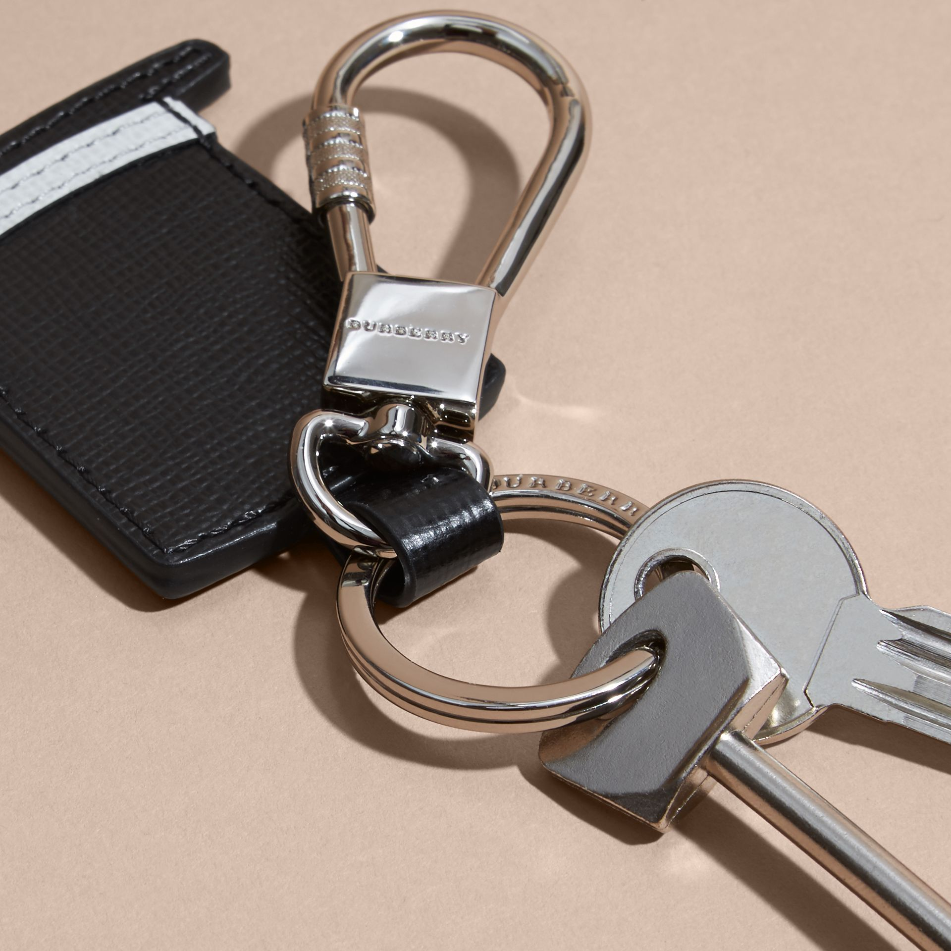 Top Hat Key Ring in Leather - gallery image 3