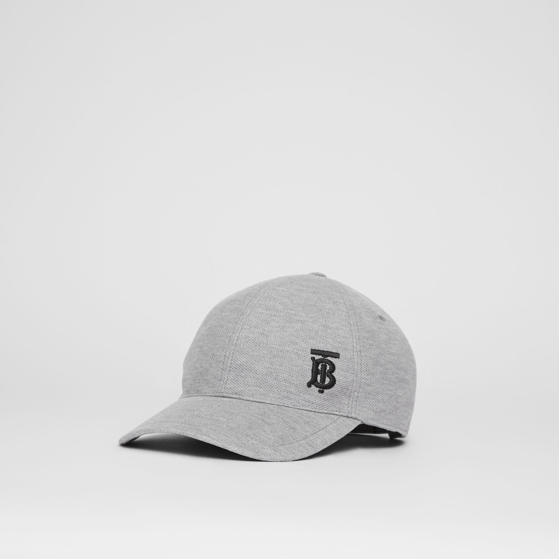 Monogram Motif Baseball Cap in Pale Grey Melange | Burberry United Kingdom - gallery image 4
