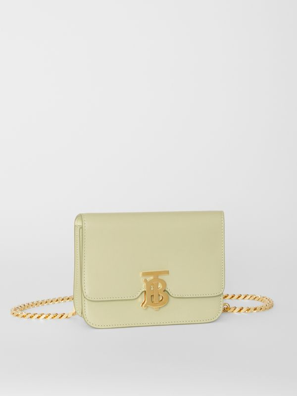 Belted Leather TB Bag in Pale Sage - Women | Burberry - cell image 3