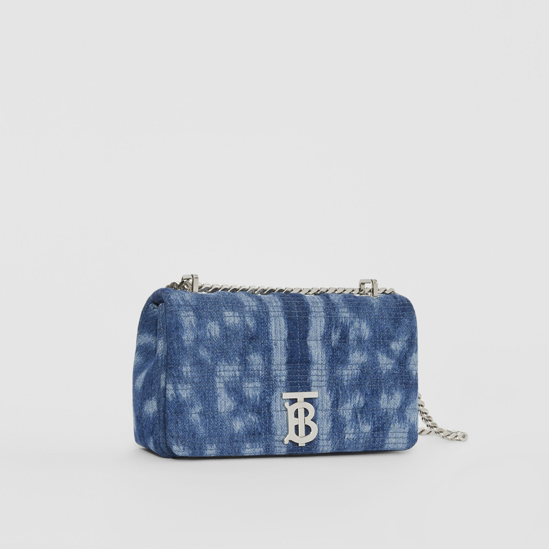 Small Quilted Denim Lola Bag in Blue | Burberry - gallery image 6
