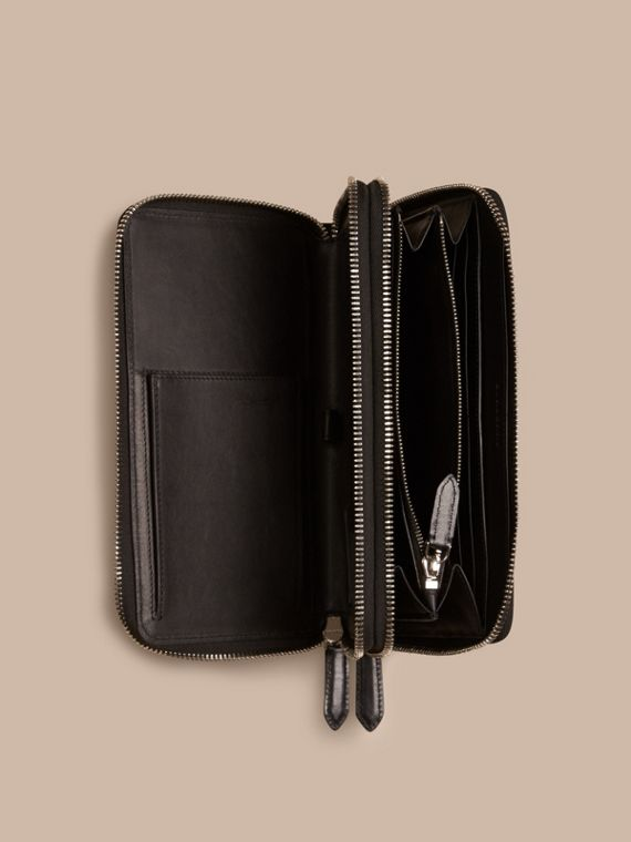 Navy/black London Check Travel Wallet Navy/black - cell image 3