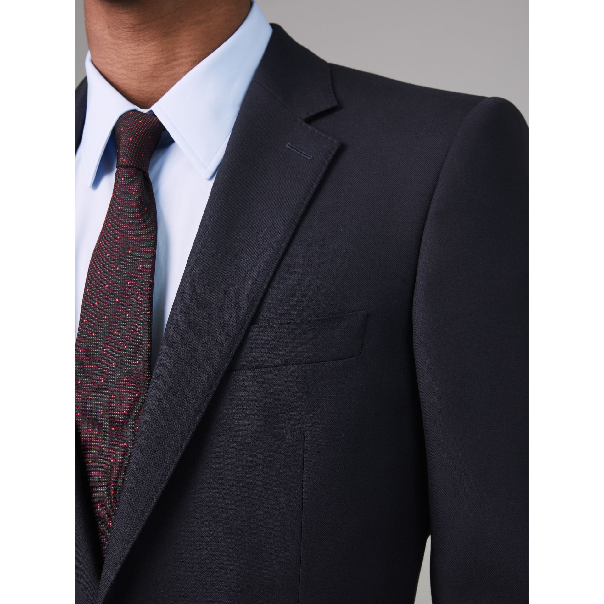 Modern Fit Wool Twill Suit in Navy - Men | Burberry - gallery image 1