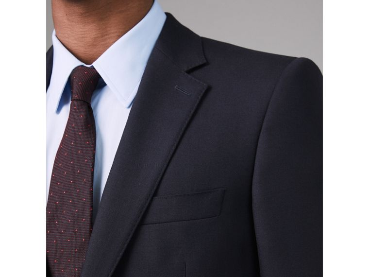 Modern Fit Wool Twill Suit in Navy - Men | Burberry - cell image 1