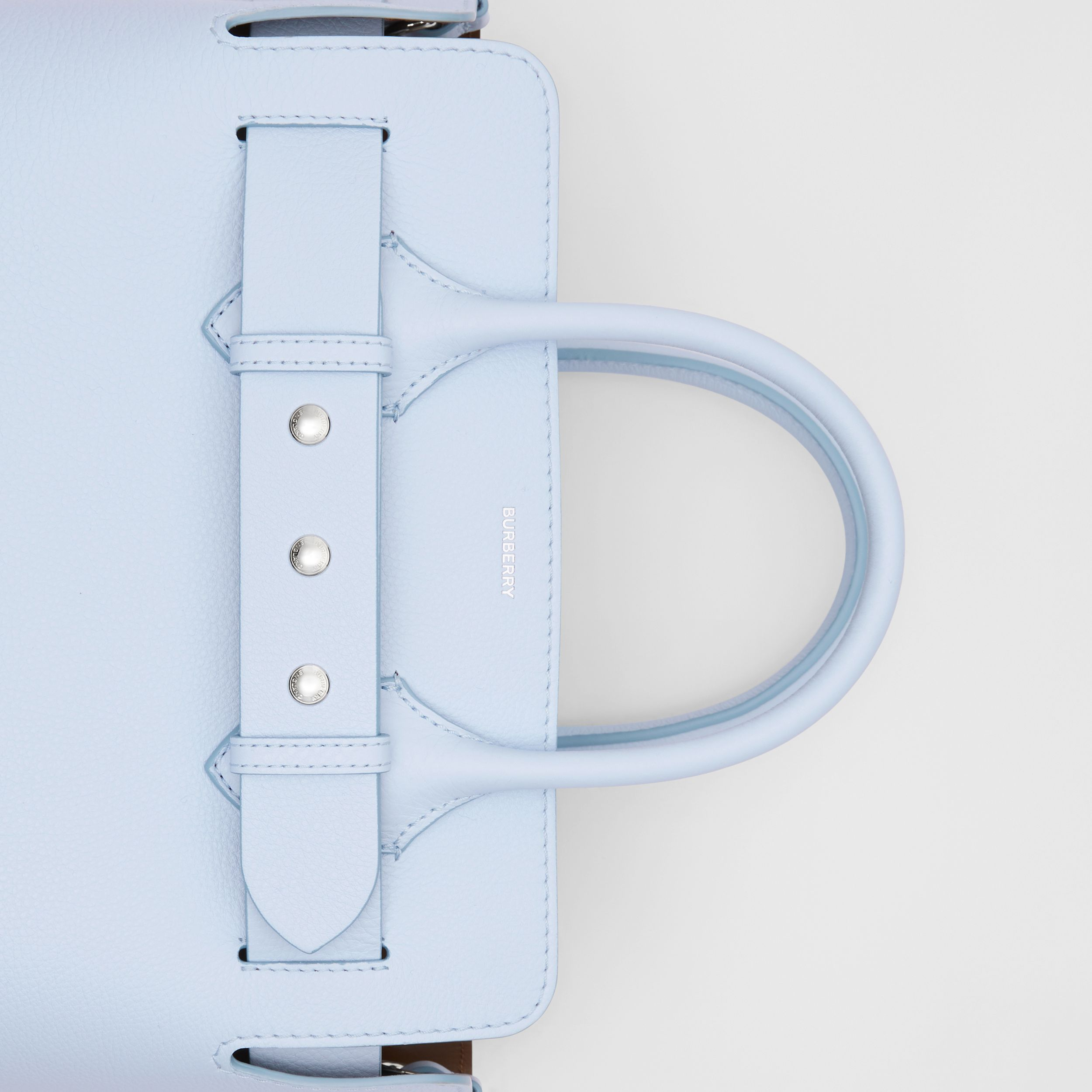 The Small Leather Triple Stud Belt Bag in Pale Blue - Women | Burberry - 2