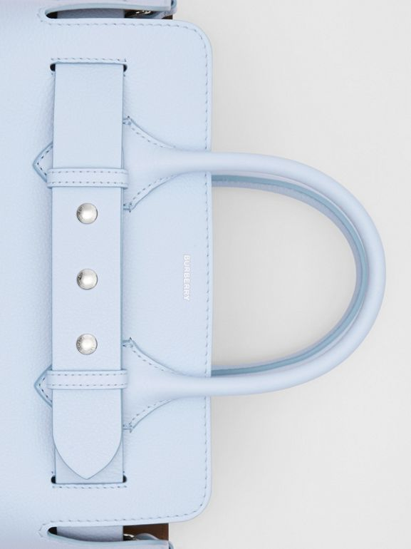 The Small Leather Triple Stud Belt Bag in Pale Blue - Women | Burberry - cell image 1