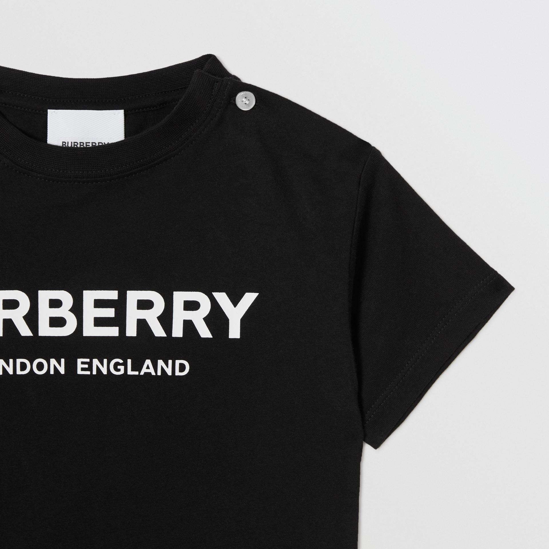 Baumwoll-T-Shirt mit Burberry-Logo (Schwarz) - Kinder | Burberry - Galerie-Bild 5
