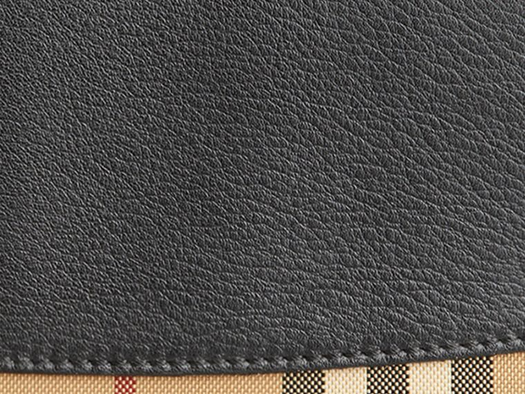 Horseferry Check and Leather Ziparound Wallet in Black - Women | Burberry Singapore - cell image 1