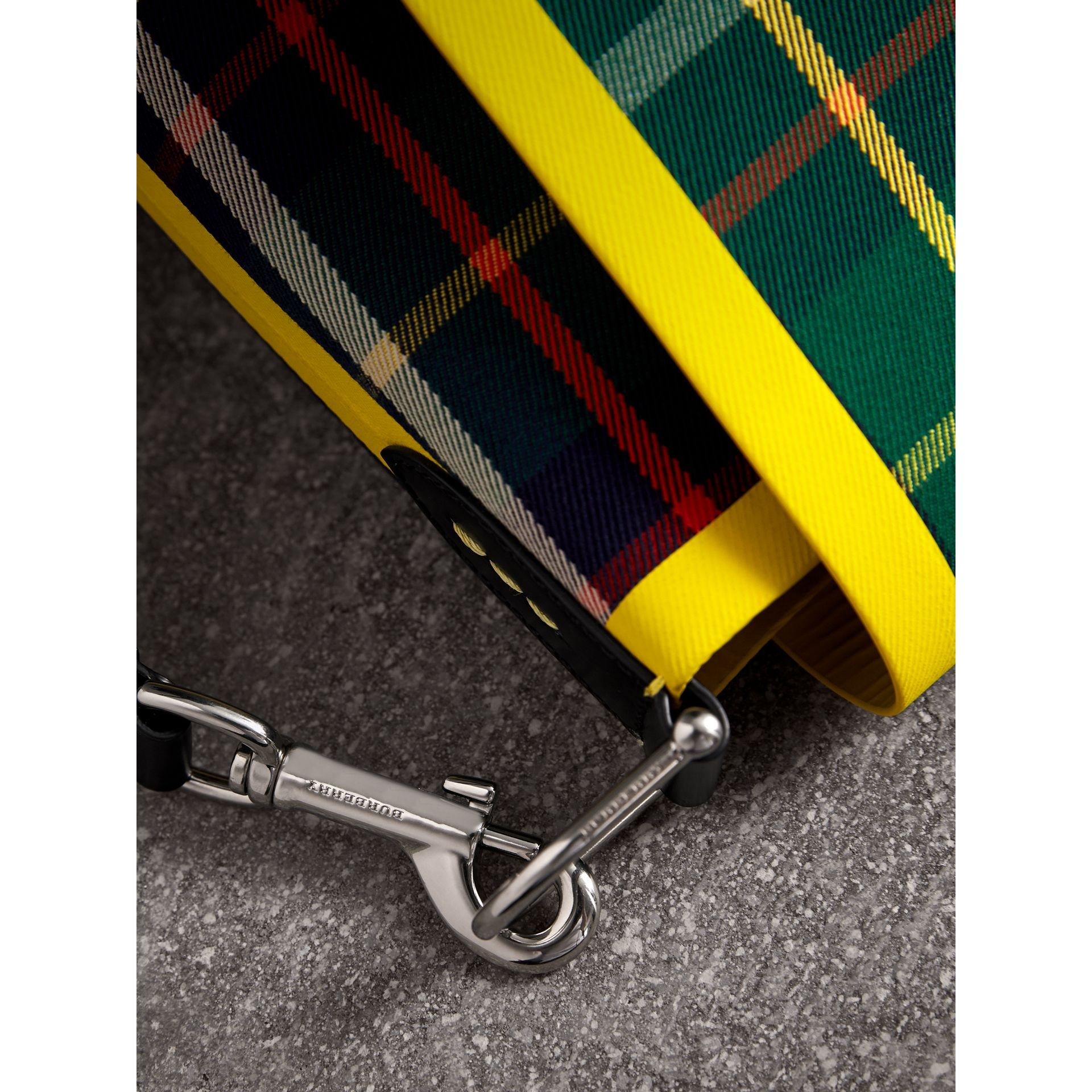 Large Tartan Cotton Messenger Bag in Forest Green | Burberry - gallery image 1