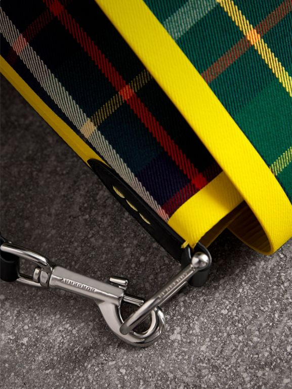 Large Tartan Cotton Messenger Bag in Forest Green | Burberry United Kingdom - cell image 1