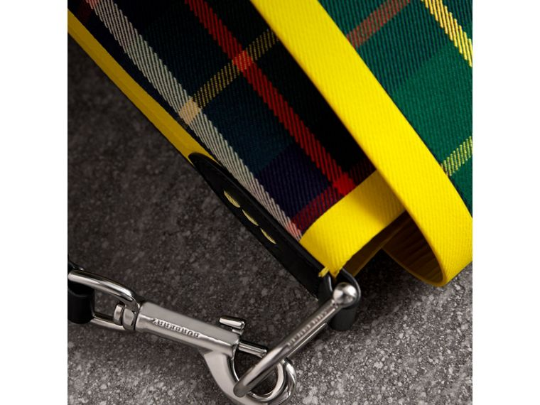 Large Tartan Cotton Messenger Bag in Forest Green | Burberry - cell image 1