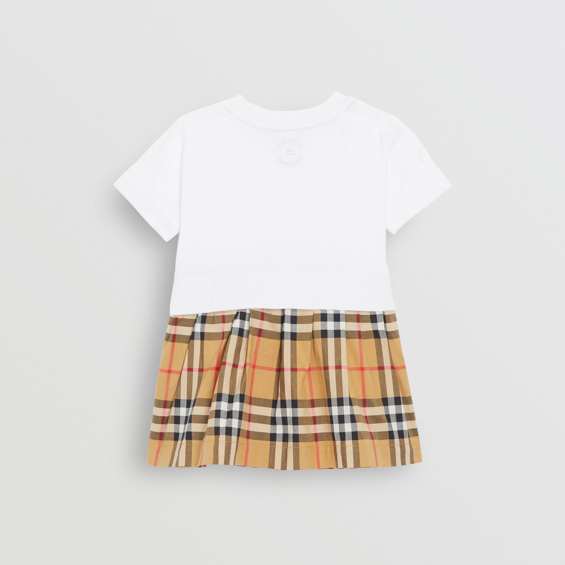 Vintage Check Cotton Dress with Bloomers in White - Children | Burberry - gallery image 3
