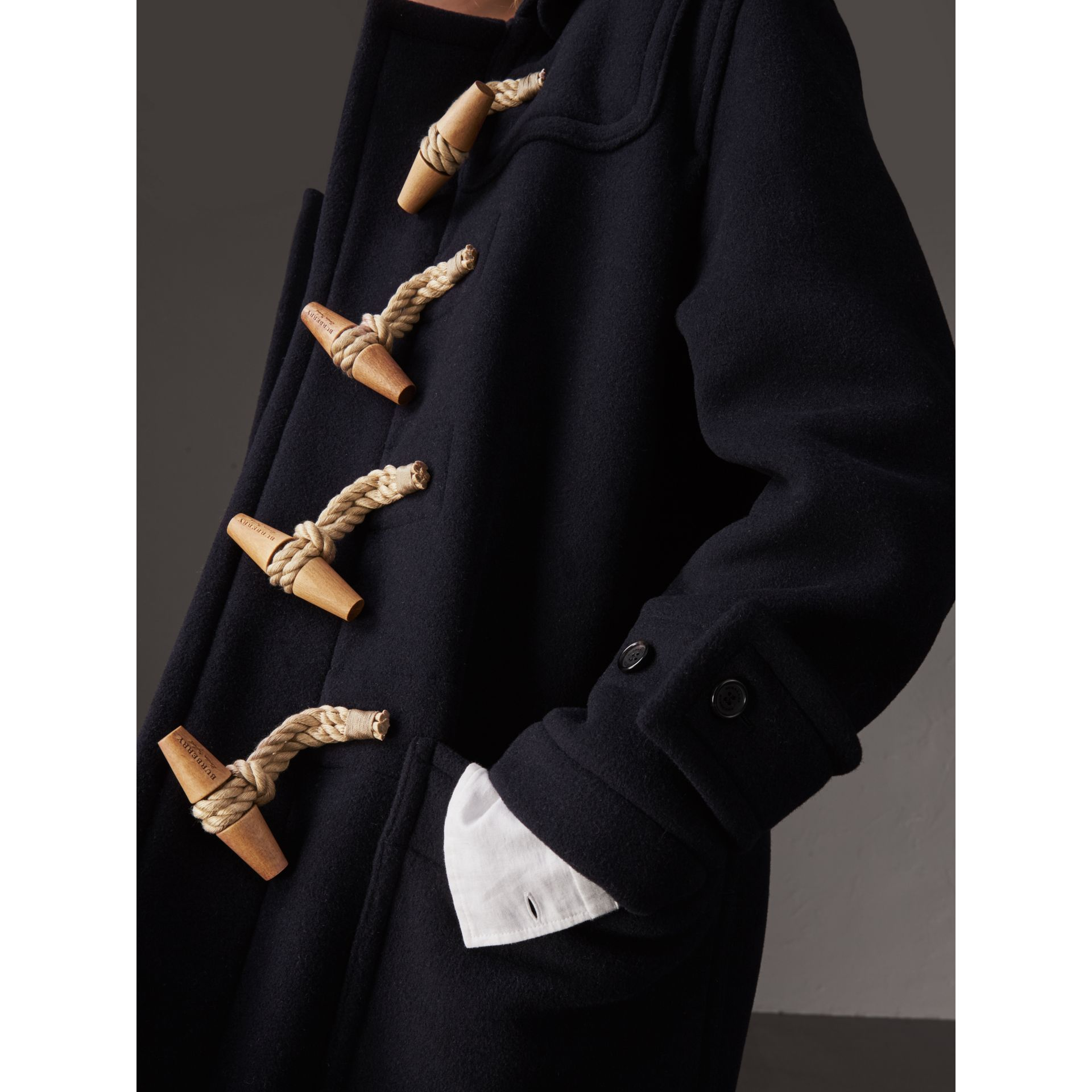 The Greenwich Duffle Coat in Navy - Women | Burberry Hong Kong - gallery image 4
