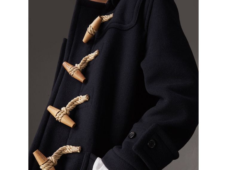 The Greenwich Duffle Coat in Navy - Women | Burberry United States - cell image 4