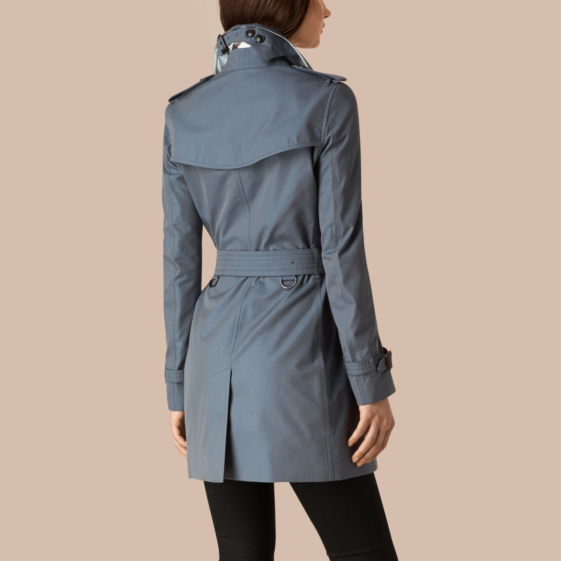 Empire blue Lightweight Cotton Gabardine Trench Coat Empire Blue - gallery image 3