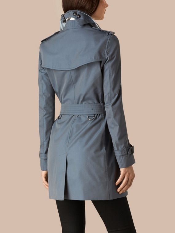 Empire blue Lightweight Cotton Gabardine Trench Coat Empire Blue - cell image 2