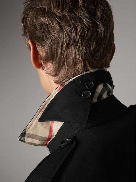 The Kensington – Long Trench Coat in Black - Men | Burberry - cell image 1