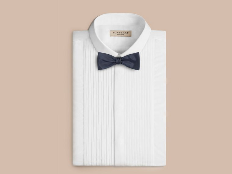 Navy Silk Bow Tie - cell image 2