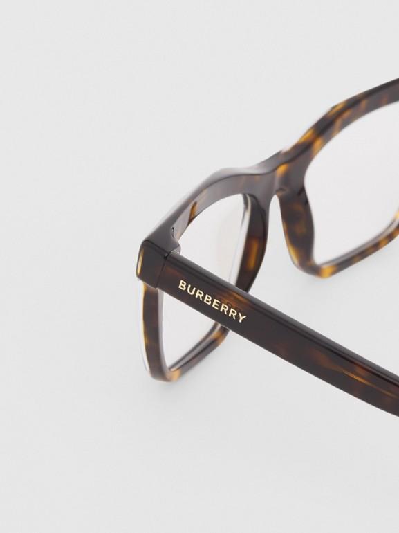 Monture rectangulaire pour lunettes de vue (Écaille  Tortue) - Femme | Burberry Canada - cell image 1