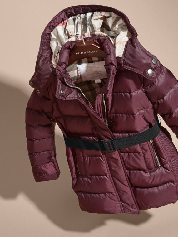 Beetroot Showerproof Puffer Coat - cell image 2