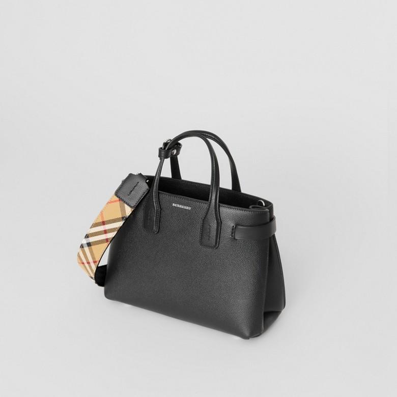 Burberry - Petit sac TheBanner en cuir avec Vintage check - 5