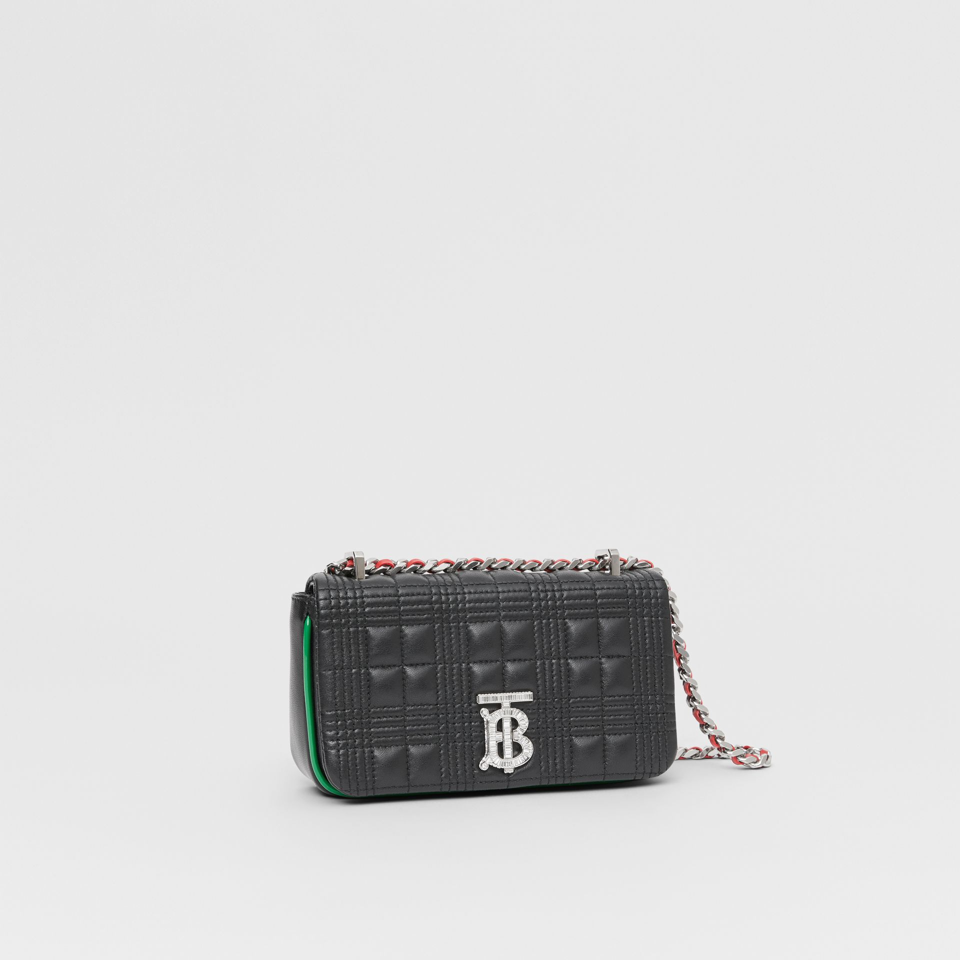 Mini Quilted Lambskin Lola Bag in Black - Women | Burberry - gallery image 6