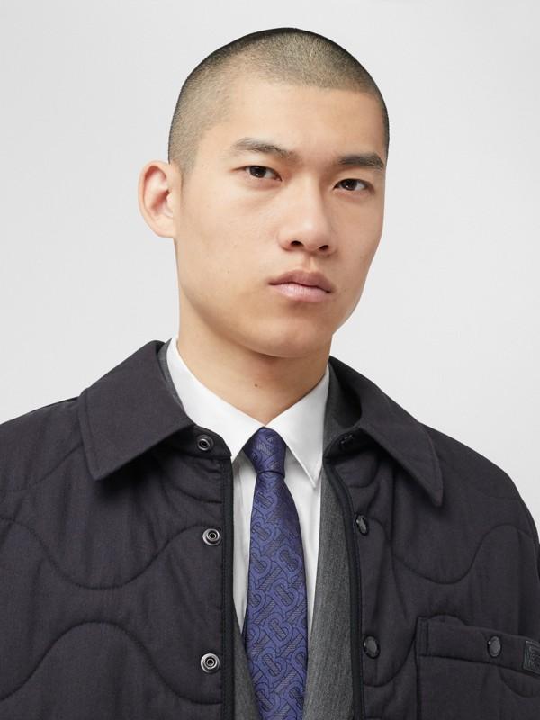 Classic Cut Monogram Silk Blend Jacquard Tie in Bright Indigo - Men | Burberry Hong Kong S.A.R - cell image 2