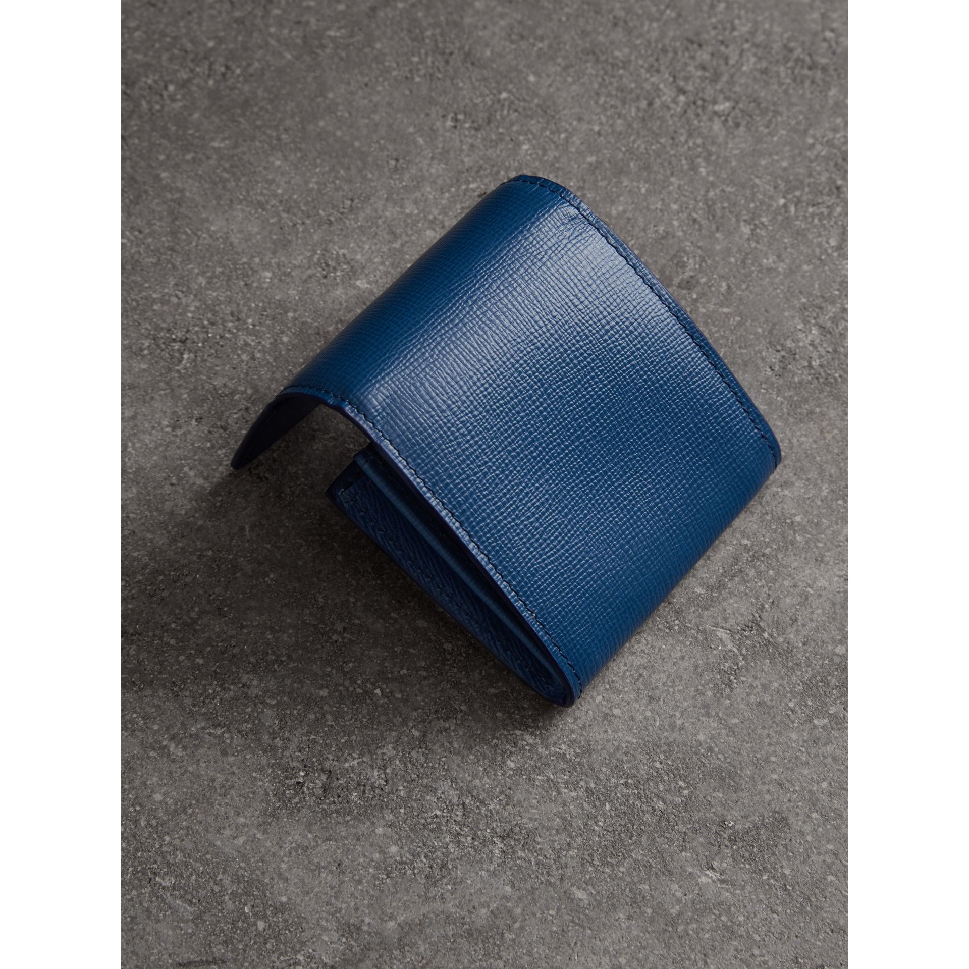 London Leather Coin Case in Deep Blue - Men | Burberry - gallery image 2