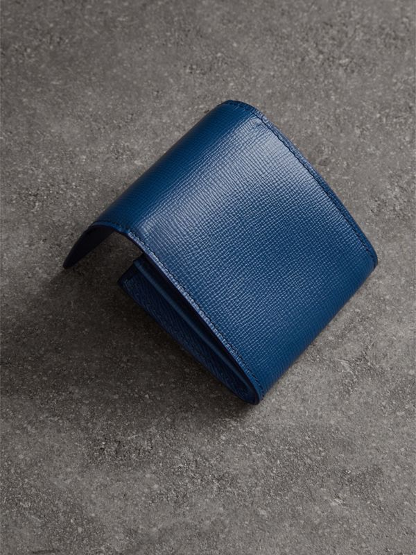 London Leather Coin Case in Deep Blue - Men | Burberry Australia - cell image 2