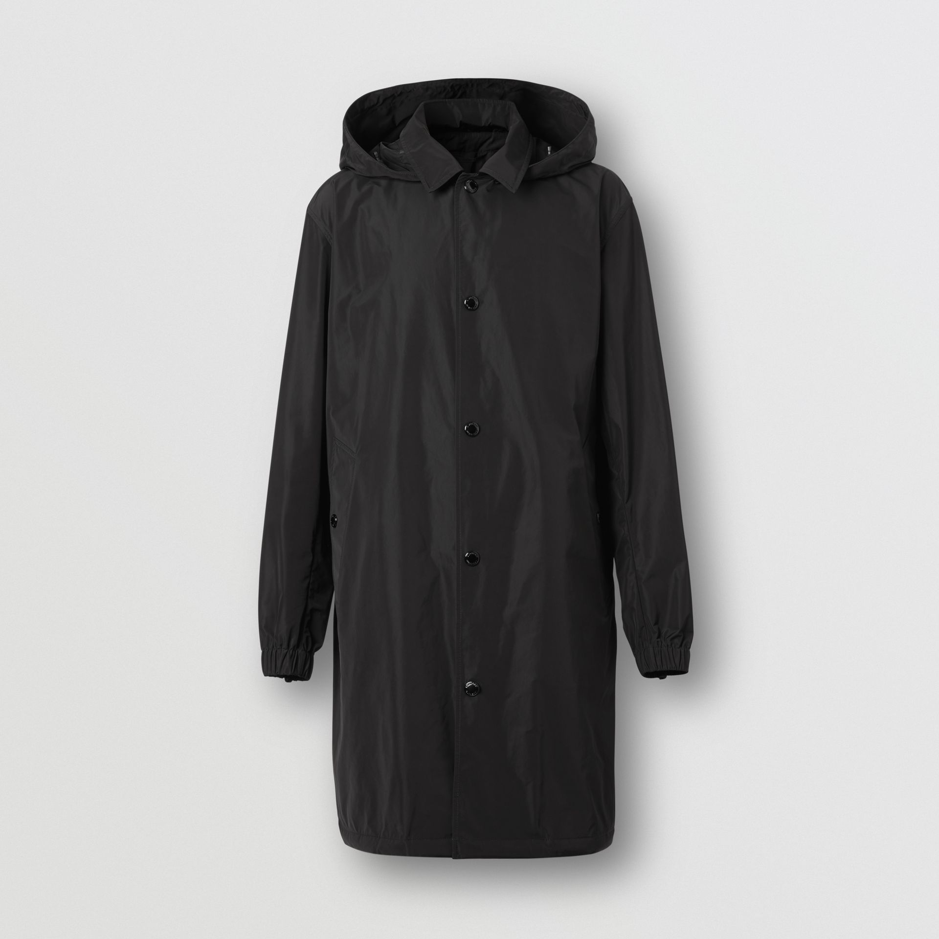 Detachable Hood Shape-memory Taffeta Car Coat in Black - Men | Burberry United Kingdom - gallery image 3