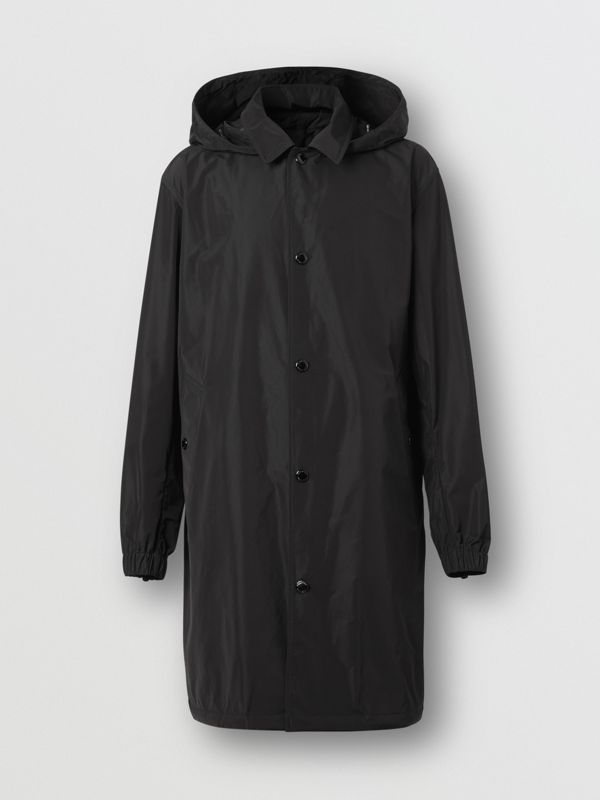 Detachable Hood Shape-memory Taffeta Car Coat in Black - Men | Burberry United Kingdom - cell image 3