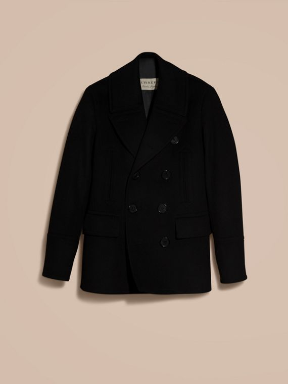 Black Wool Cashmere Pea Coat Black - cell image 3