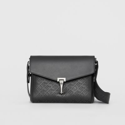 Small Perforated Logo Leather Crossbody Bag by Burberry