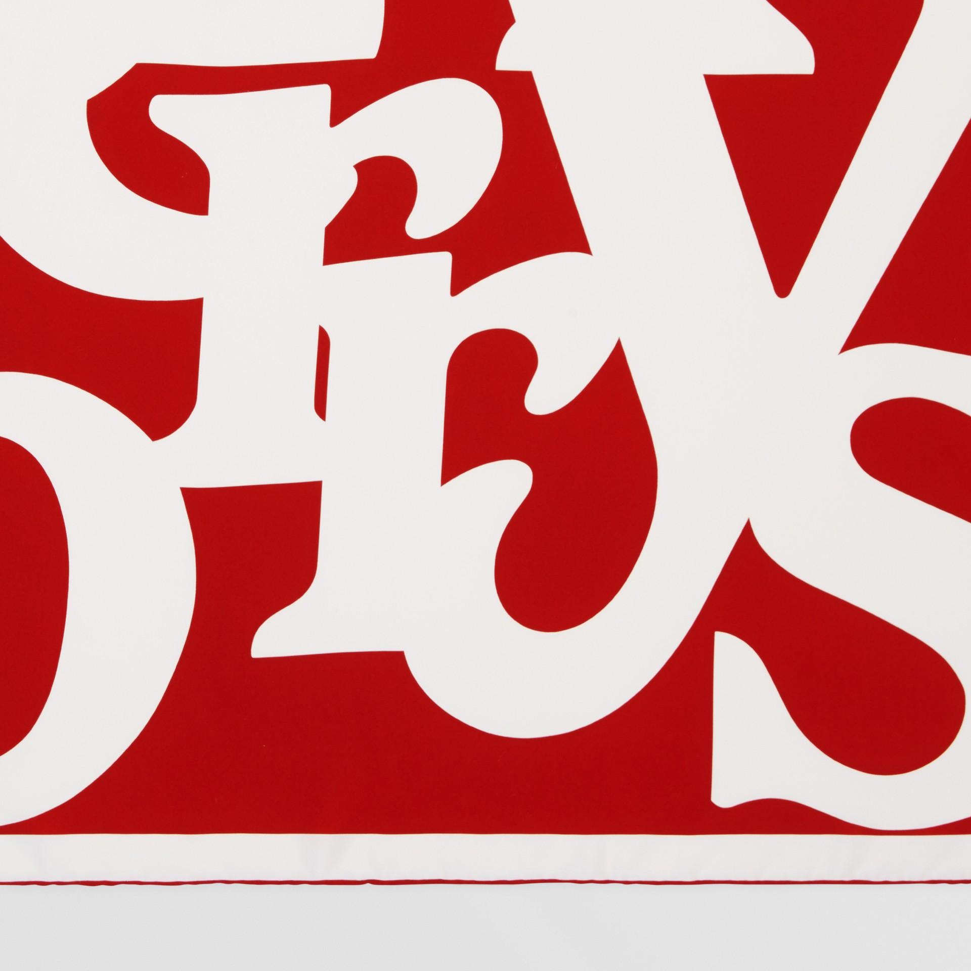 Archive Logo Print Silk Square Scarf in Burgundy/beige | Burberry United Kingdom - gallery image 1
