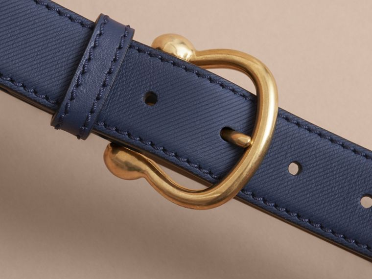 Trench Leather Belt in Ink Blue - Women | Burberry - cell image 1