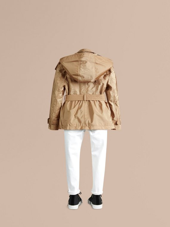 Technical Detachable Hood Trench Coat - Girl | Burberry - cell image 3
