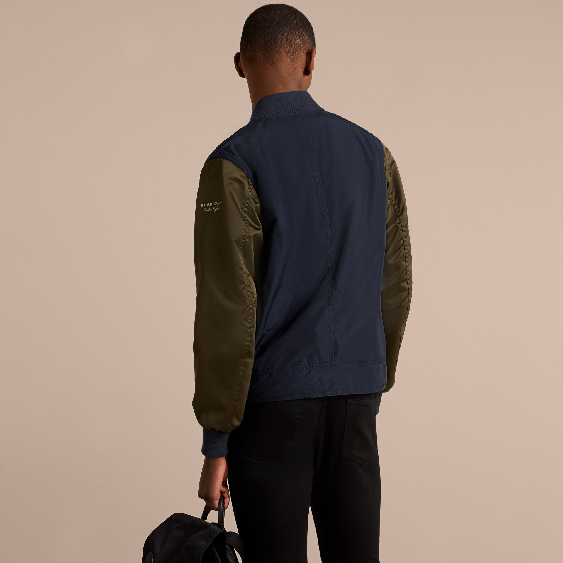 Two-tone Shape-memory Taffeta Bomber Jacket - Men | Burberry - gallery image 3