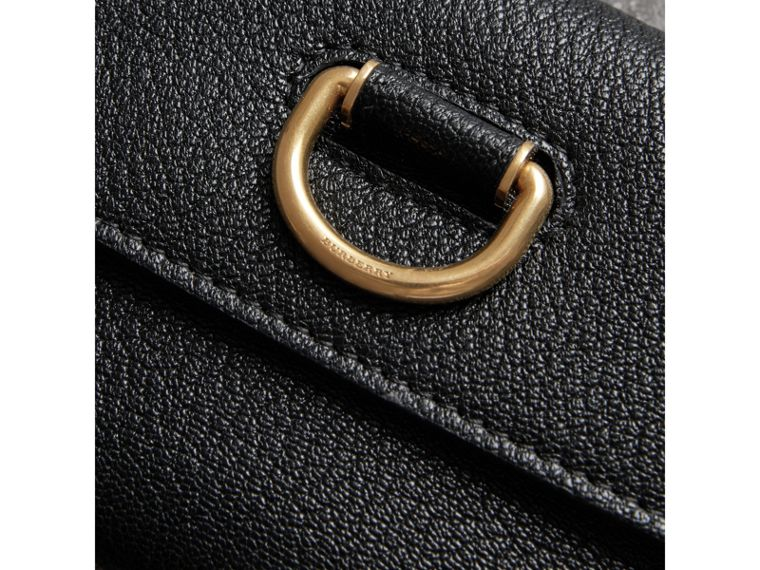 D-ring Grainy Leather Continental Wallet in Black - Women | Burberry - cell image 1
