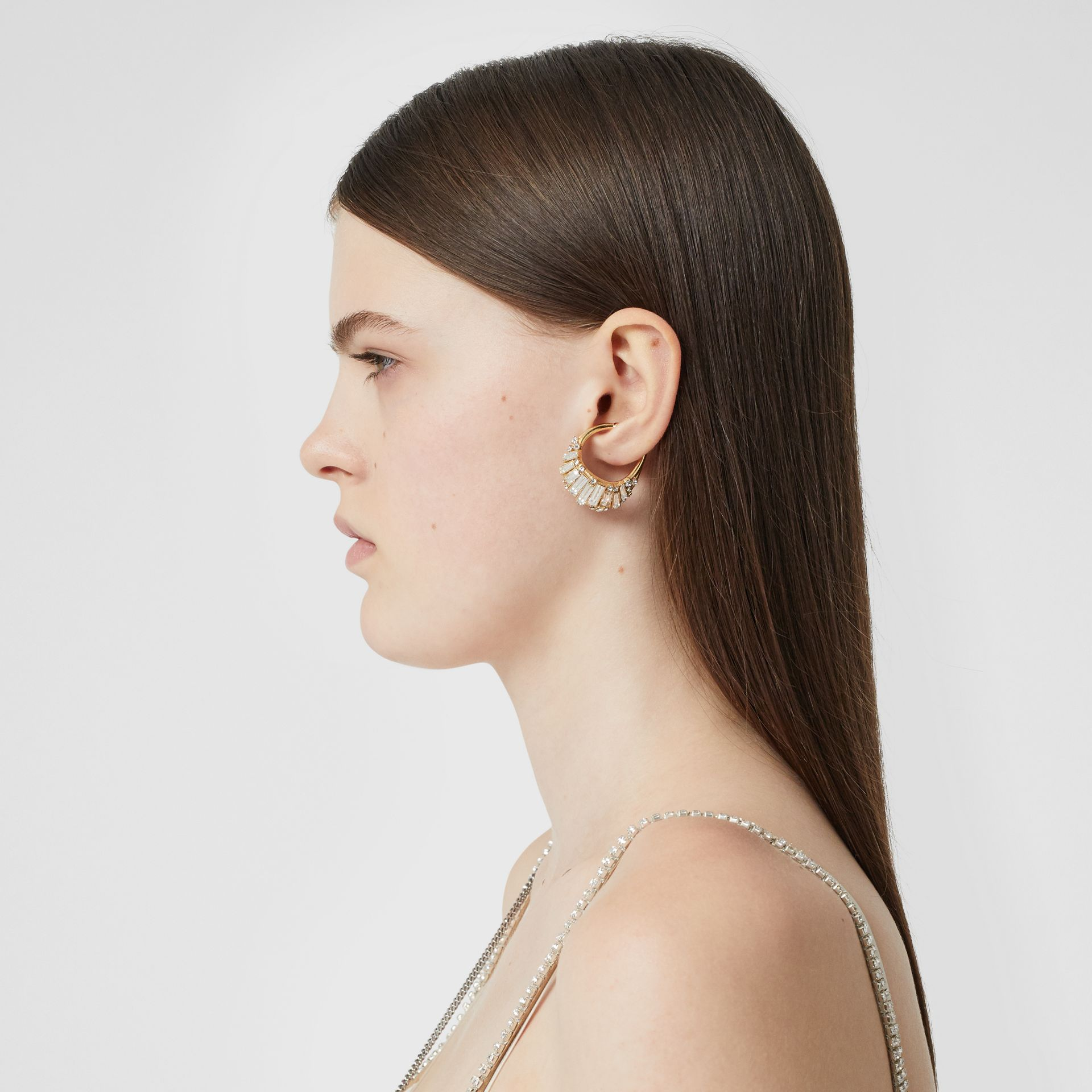 Crystal Gold-plated Ear Cuff in Light Gold/crystal - Women | Burberry - gallery image 2